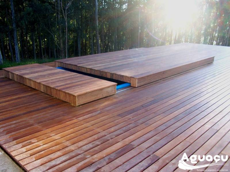 Deck Retrátil Piscina
